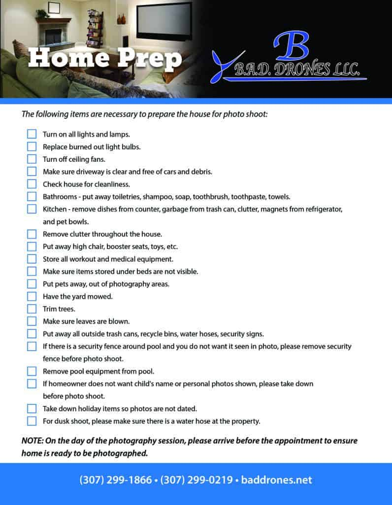 home preparation